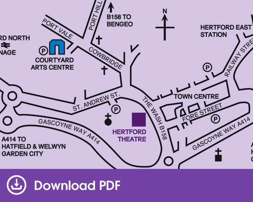 Hertford Theatre location map
