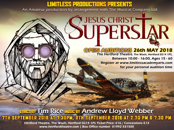 Open Auditions for Limitless Productions: Jesus Christ Superstar
